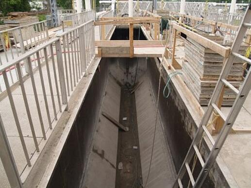 Concrete wastewater treatment facility tank