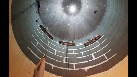 All irregular surfaces of the water tank were brushed to ensure complete coatings coverage.