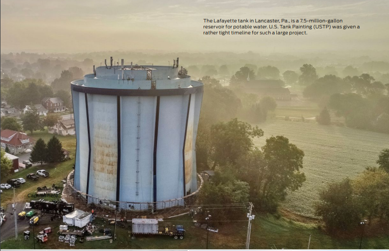 Complex science goes into coating systems used in protecting water tanks and ensuring the potable water inside.