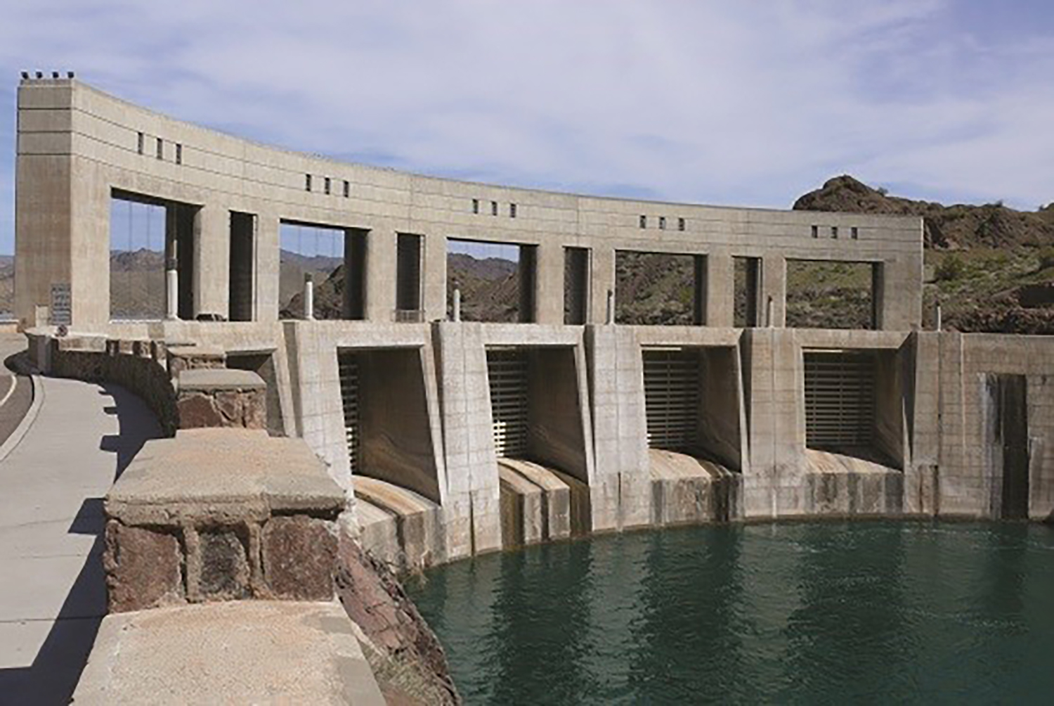 Parker Dam located on the Colorado River at Lake Havasu.
